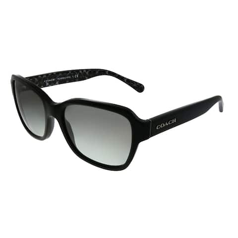 Coach L1010 HC 8232 551011 Womens Black Frame Dark Grey Gradient Lens Sunglasses