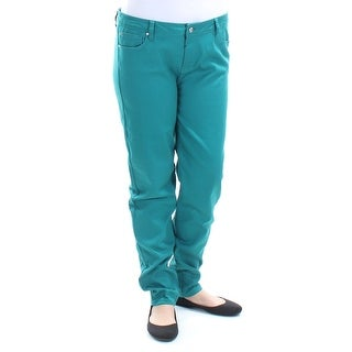 Womens Green Casual Skinny Pants Size 15