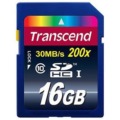 transcend DF1428M Transcend 16 GB Class 10 SDHC Flash Memory Card TS16GSDHC10 - Multicolor