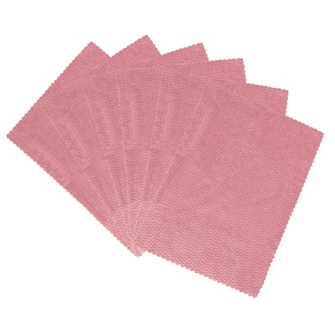 "Cleaning Cloth Towels 6pcs, 15.7"" x 11.8"" Highly Absorbent Dish Towels Pink - 6pcs"