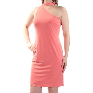 Womens Coral Above The Knee Shift Party Dress Size: 4