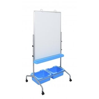 Luxor L330 Classroom Chart Stand with Storage Bins - 25 x 72 x 31 in.