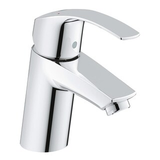 Grohe 32 643 A Eurosmart 1.2 GPM Smooth Body Single Hole Bathroom Faucet with SilkMove Technology - Less Drain Assembly