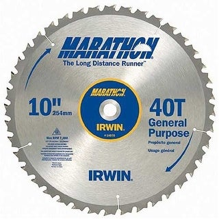 Irwin 14070 Marathon Miter & Table Circular Saw Blade, 10""