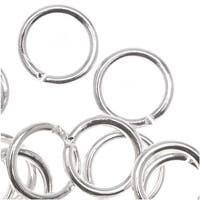Silver Plated Open Jump Rings 7mm 18 Gauge (50)