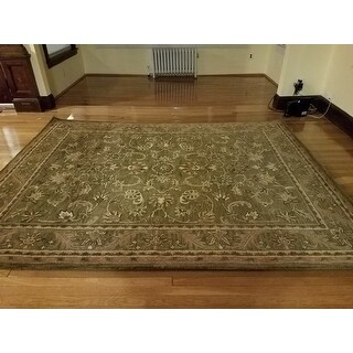 Safavieh Handmade Antiquities Kasadan Olive Green Wool Rug (7'6 x 9'6)