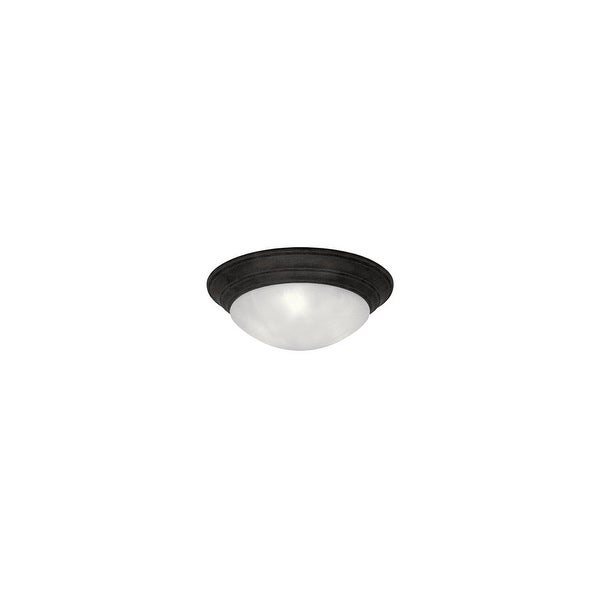 """Designers Fountain 1245S-ORB 1-Light 11.5"""" Small Size Flush Mount from the Lunar Collection - Oil Rubbed bronze"""