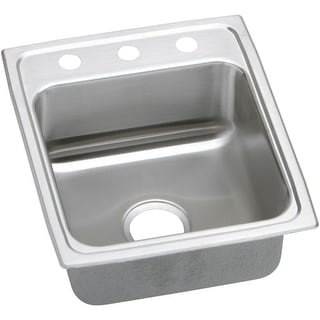 "Elkay LRAD152255 Gourmet 15"" Single Basin Drop In Stainless Steel Bar Sink"