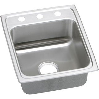 "Elkay LRAD152260 Gourmet 15"" Single Basin Drop In Stainless Steel Bar Sink"