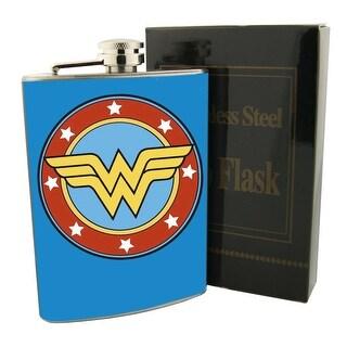 Wonder Woman 8oz Stainless Steel Flask Drinking Liquor Whiskey Vodka
