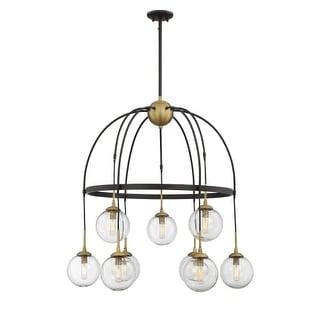 """Savoy House 1-5004-9 Fulton 9 Light 33"""" Wide 2 Tier Globe Chandelier"""