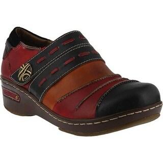 L'Artiste by Spring Step Women's Sherbet Black Multi Premium Leather