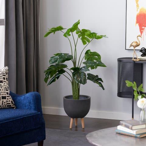 "Monstera Artificial Decorative Foliage 53"" Green - 25X25X53"