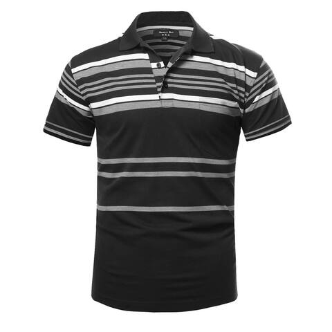 NE PEOPLE Mens Basic Stripe Polo T-shirts [NEMT273]