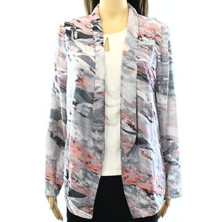 Lush NEW Purple Pink Grey Size Medium M Junior Lapel Flyaway Jacket