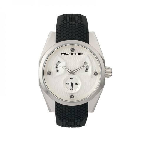 Morphic M34 Series Men's Quartz Watch, Silicone Strap, Luminous Hands