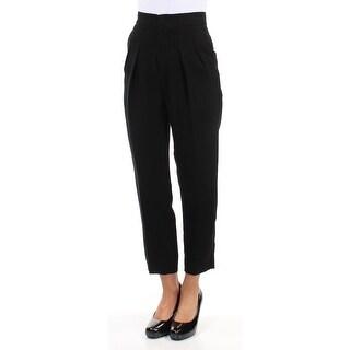 Y $740 Womens New 2328 Black Pleated Capri Casual Pants 1 Juniors B+B