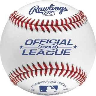 Rawlings FSOLB Flat Seam Official League Baseball (Dozen) White