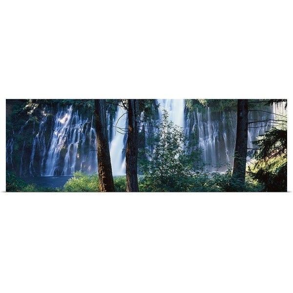 """Waterfall in a forest, McArthur Burney Falls Memorial State Park, California,"" Poster Print"