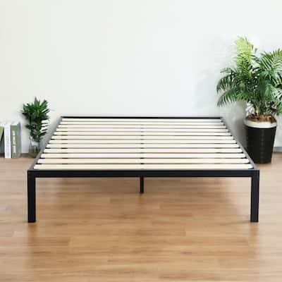 Sleeplanner Modern Metal 14-inch Platform Bed Frame