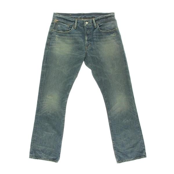 541a6d0359405c Shop Denim & Supply Ralph Lauren Mens Bootcut Jeans Denim Distressed - Free  Shipping Today - Overstock - 17824836