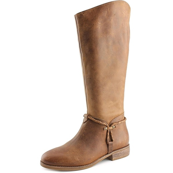 Matisse Lariat Wide Calf Women W Round Toe Leather Tan Knee High Boot