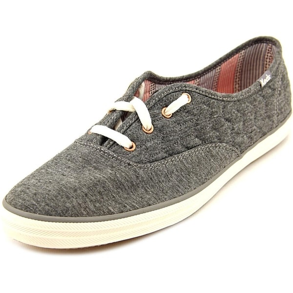 5a9ce38d5796d Shop Keds Champion Quilt Jersey Women Round Toe Canvas Gray Sneakers ...