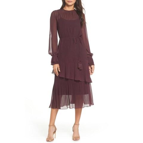 Chelsea28 Women's Pleated Ruffle Hem Sheath Dress