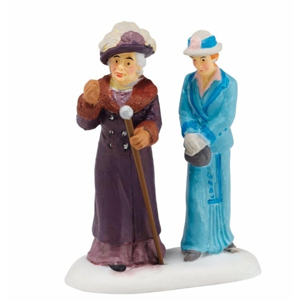 """Department 56 Downton Abbey Series """"Dowager Countess & Young Friend"""" Figurine #4044802"""