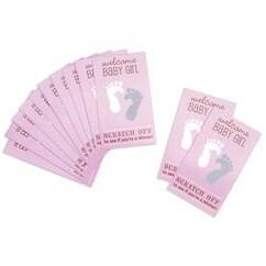 Pink - Baby Shower Scratch Off Card Game 12/Pkg