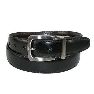 Dockers Boys' Leather Feather Edge 1 Inch Reversible Belt