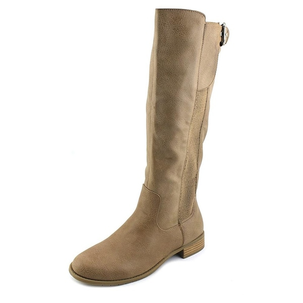 Unlisted Kenneth Cole Spare Star Women Round Toe Synthetic Tan Knee High Boot