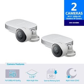 2-Pack of SNH-E6440BN Samsung HD Outdoor Full HD 1080p WiFi Camera