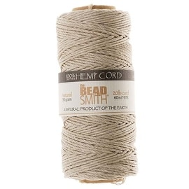 Beadsmith Natural Hemp Twine Bead Cord 1mm / 197 Feet (60 Meters)
