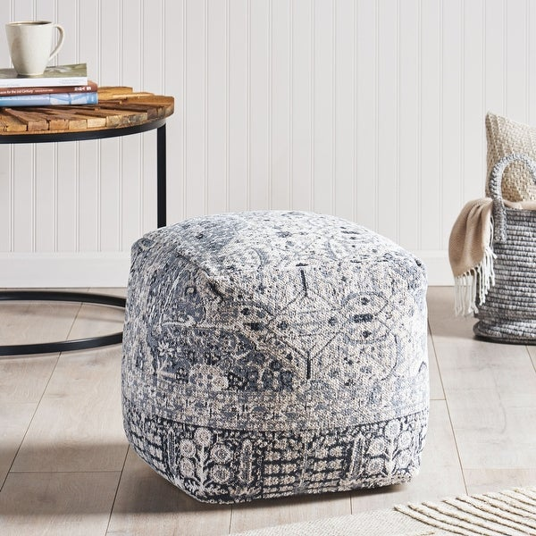 Arimo Contemporary Fabric Cube Pouf by Christopher Knight Home. Opens flyout.