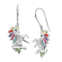 Crystaluxe Unicorn Drop Earrings with Swarovski elements Crystals in Sterling Silver