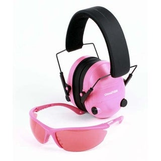 Champion Glasses and Ear Muff Package - PINK