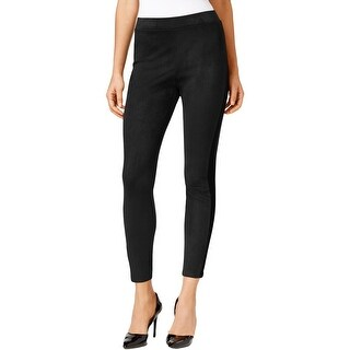 NY Collection Womens Leggings Pull On Faux Suede