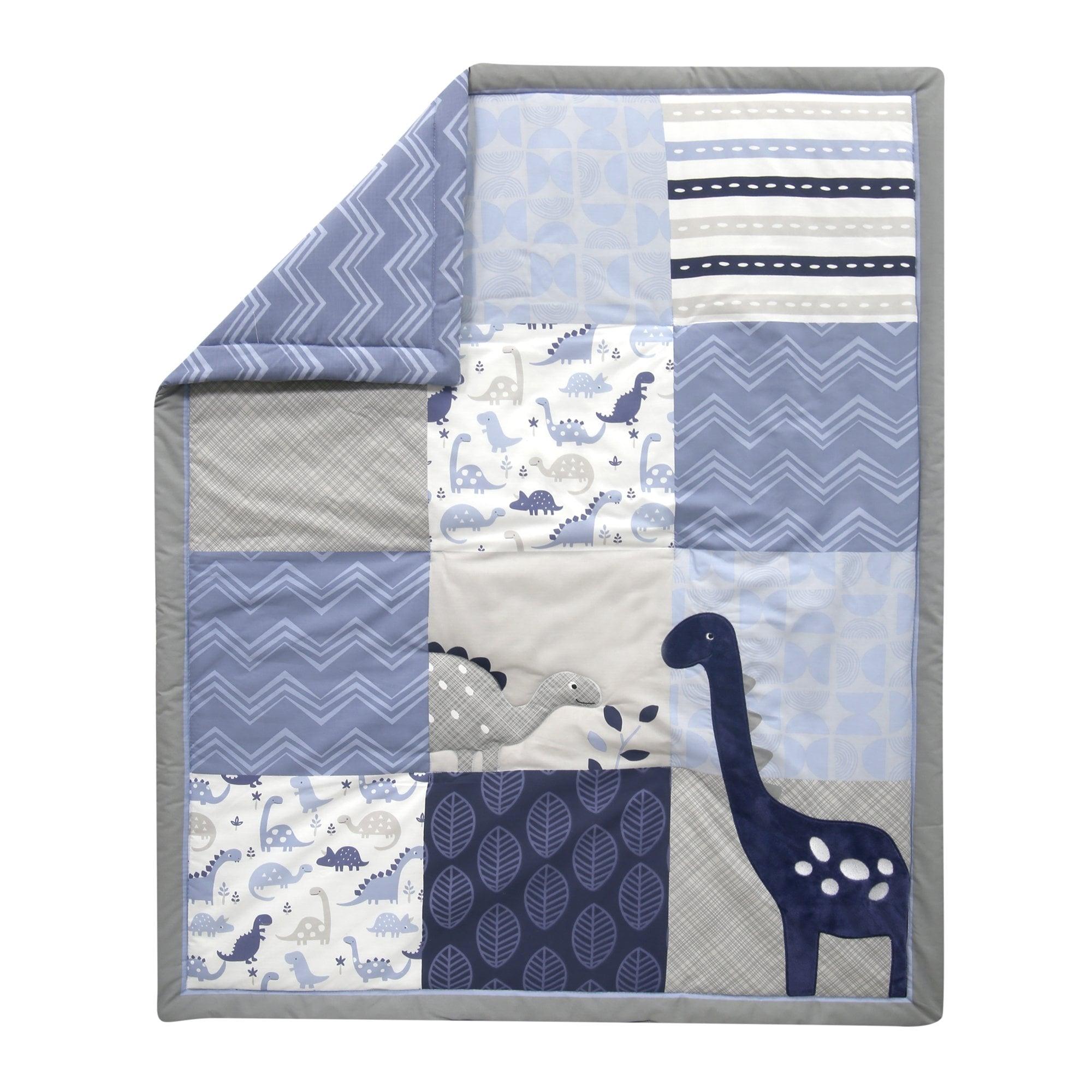 Blue//White Bedtime Originals Roar Dinosaur Fitted Crib Sheet