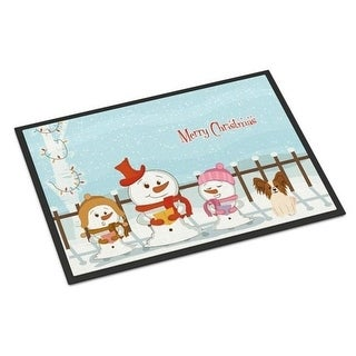 Carolines Treasures BB2409MAT Merry Christmas Carolers Papillon Red White Indoor or Outdoor Mat 18 x 0.25 x 27 in.
