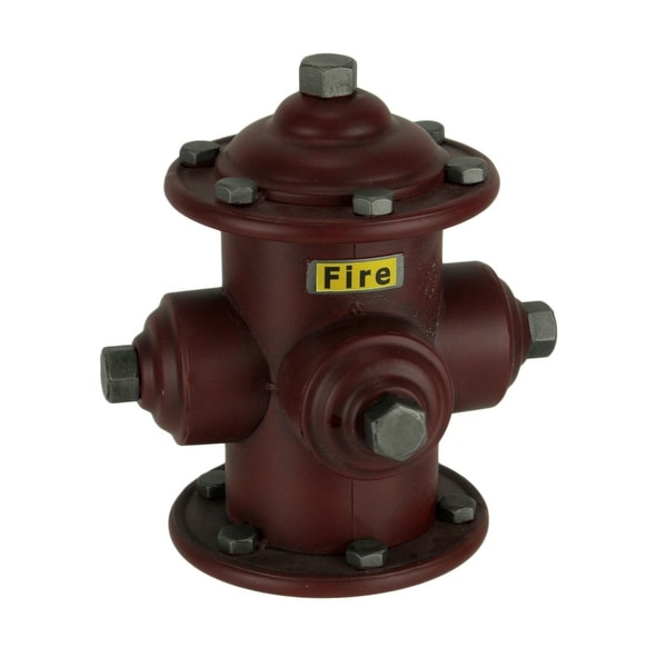 9 Inch Red Metal Vintage Fire Hydrant Replica Coin Piggy Bank Tabletop Sculpture. Opens flyout.