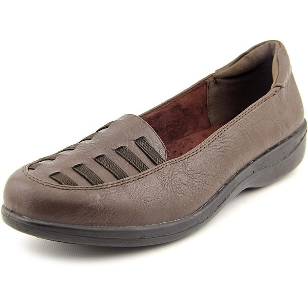 Easy Street Genesis Women W Round Toe Synthetic Brown Loafer