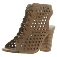 Sbicca Piccolo Women's Laser Cut Dress Heel Sandals
