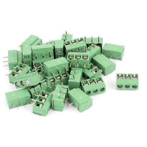 30pcs 5.08mm 3P Plug in PCB Mount Terminal Block Screw Connector 300V10A