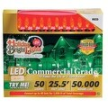 Holiday Bright Lights LEDBX-M850-RD6 M8 LED Commercial Light Set, Red, 50 lights - Thumbnail 0