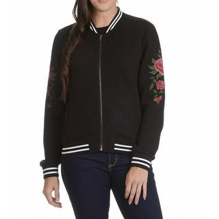 Ashley NEW Deep Black Womens Size Small S Full-Zip Quilted Jacket