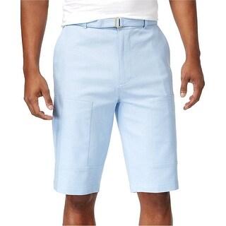 Sean John Solid Light Blue Mens Size 38 Belted Cargo Shorts