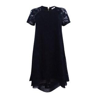 Rachel Roy Women's High-Low Lace Trapeze Dress (2, Black) - Black - 2