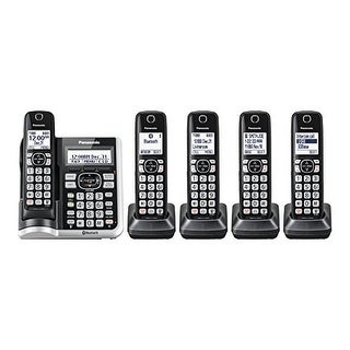 Panasonic KX-TGF575S Cordless Phone With Handset Cordless Phone with Answering Machine - 5 Handsets