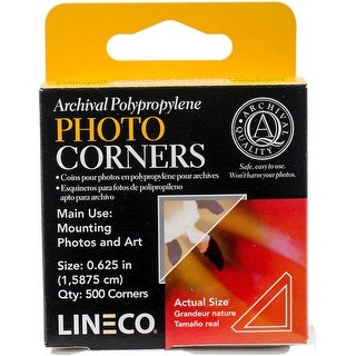 Polypropylene Photo Mounting Corners 500/Pkg-Clear .625""
